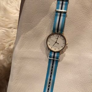 ☀️3 for 20☀️ Timex gold watch with striped band